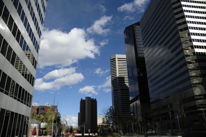 Denver, la ciudad grande fotos de archivo libres de regalías