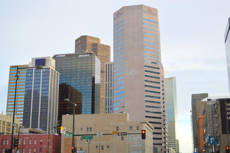 Denver, le Colorado, Etats-Unis - 28 novembre 2014 : Denver du centre images libres de droits