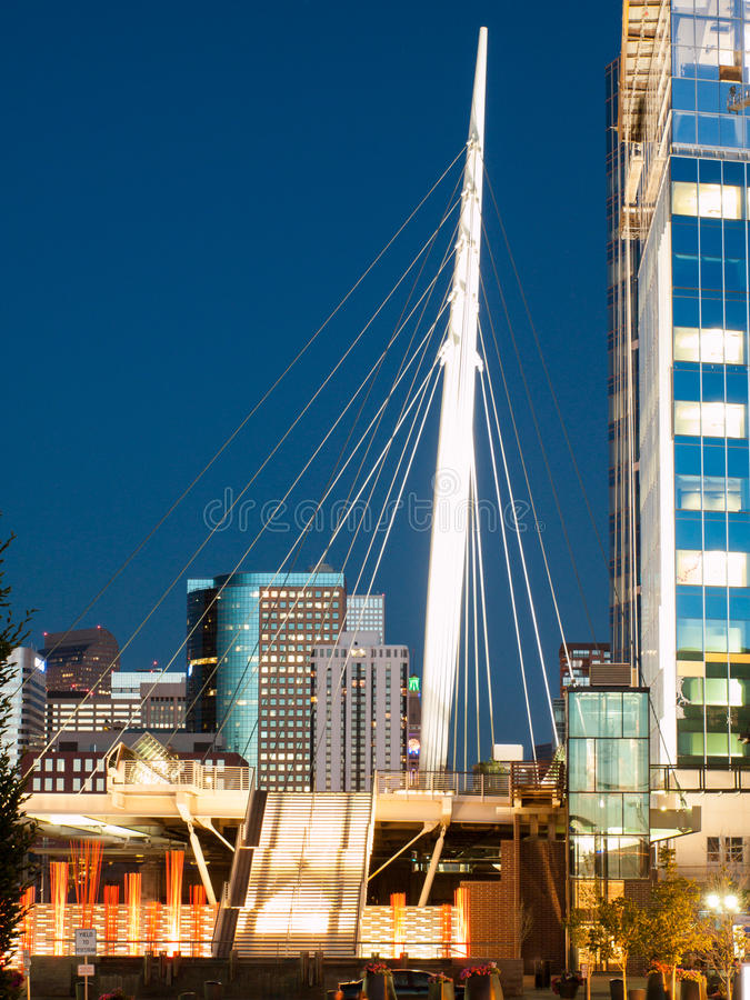Free Denver Millennium Bridge Royalty Free Stock Photos - 42068778