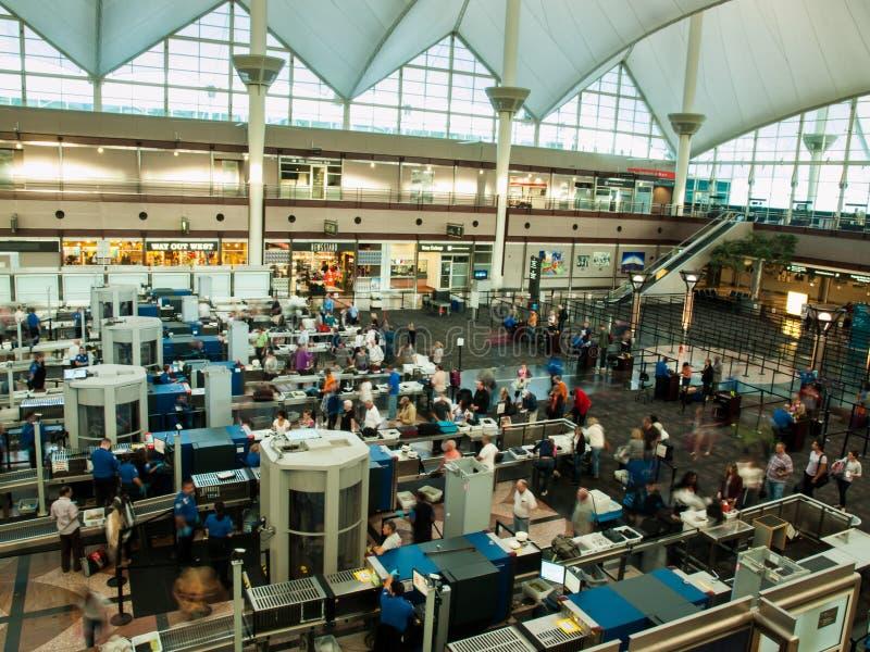 Denver na lotnisku międzynarodowym fotografia royalty free