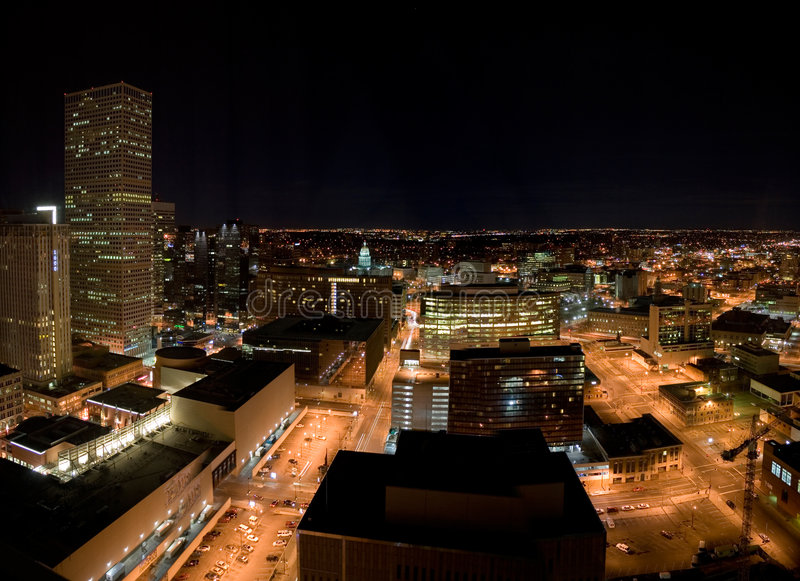 Download Denver at Night stock image. Image of state, panorama - 1632661