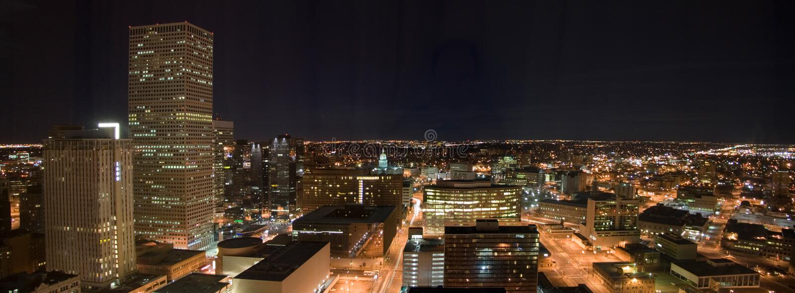 Download Denver at Night stock photo. Image of night, cityscape - 1632668