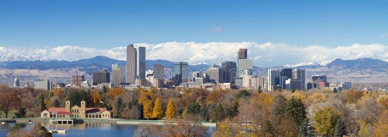 Denver Panorama lizenzfreie stockbilder
