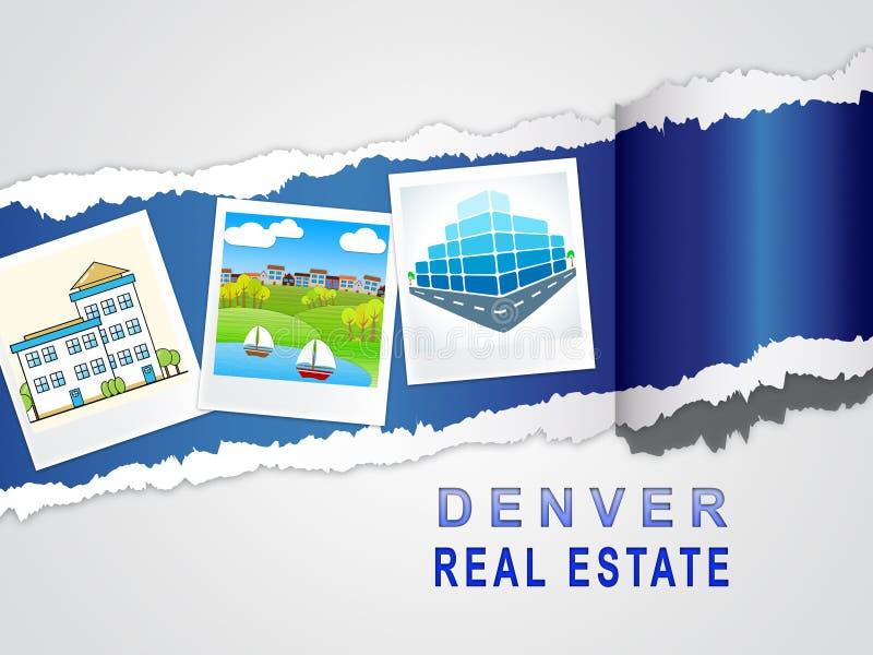 Denver Real Estate Images Ilustra Propriedade Do Colorado E Habitação De Investimento - Ilustração 3d ilustração do vetor