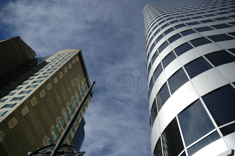 denver s skyskrapor royaltyfria bilder