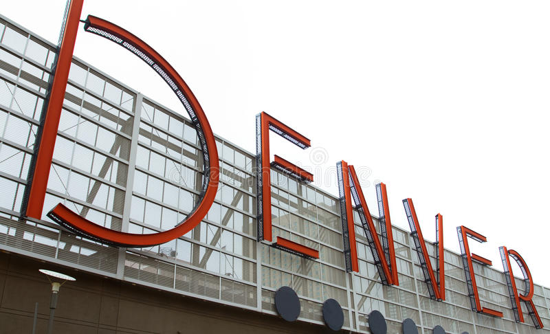 Denver Sign royalty free stock photography