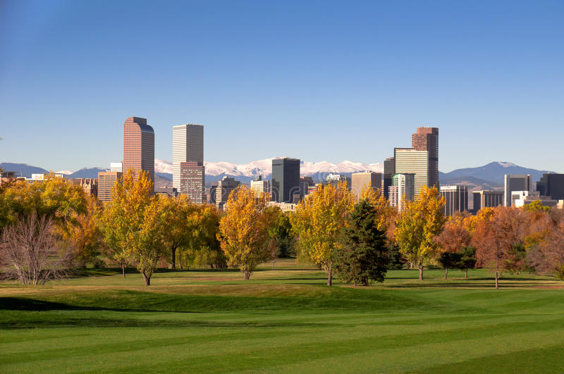 Denver-Skyline stockbilder