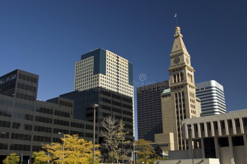 Denver-Skyline stockbilder