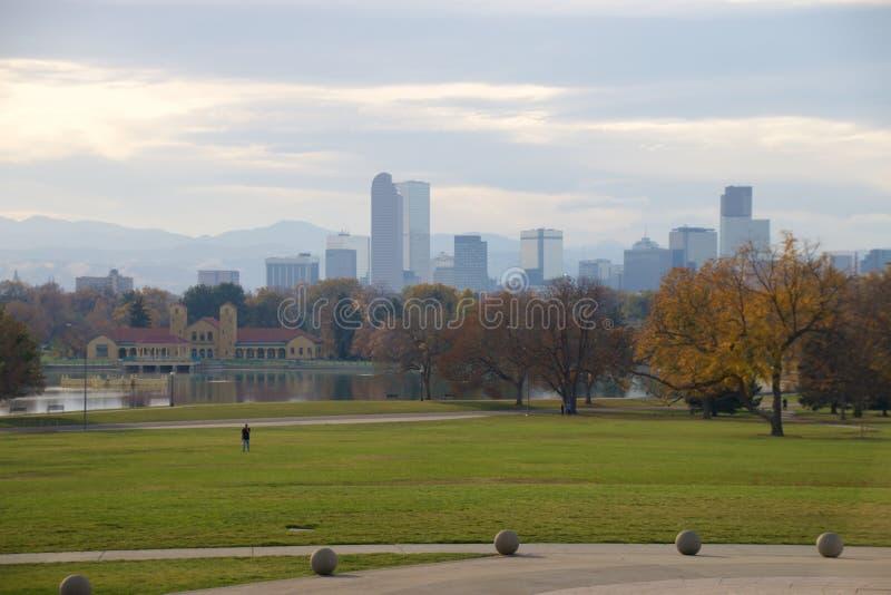 Denver skyline stock photography