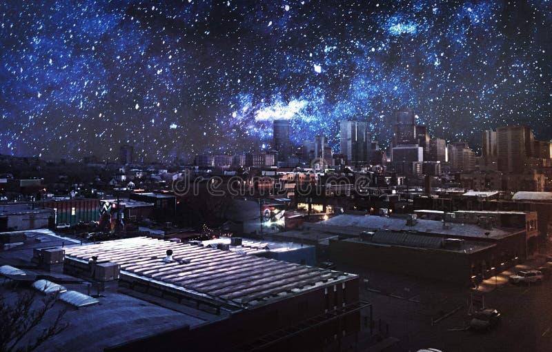 Denver Starry Night imágenes de archivo libres de regalías