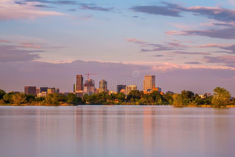 Denver Sunset fotografía de archivo