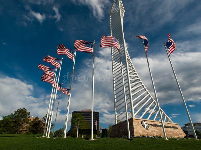 Denver Tech Center Monument imagens de stock