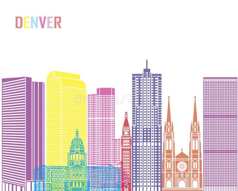 Denver V2 horisontpop vektor illustrationer