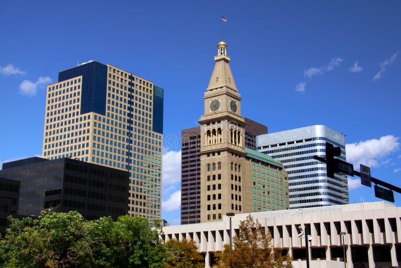 Denver van de binnenstad stock fotografie