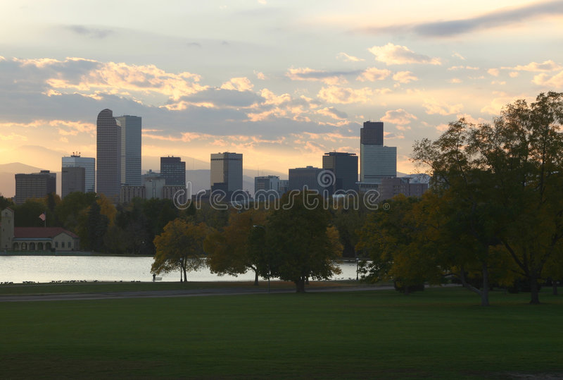 Denver van de binnenstad royalty-vrije stock foto's