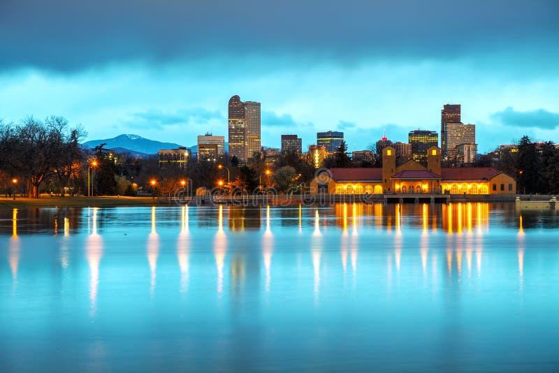Denver van de binnenstad, Colorado stock afbeeldingen
