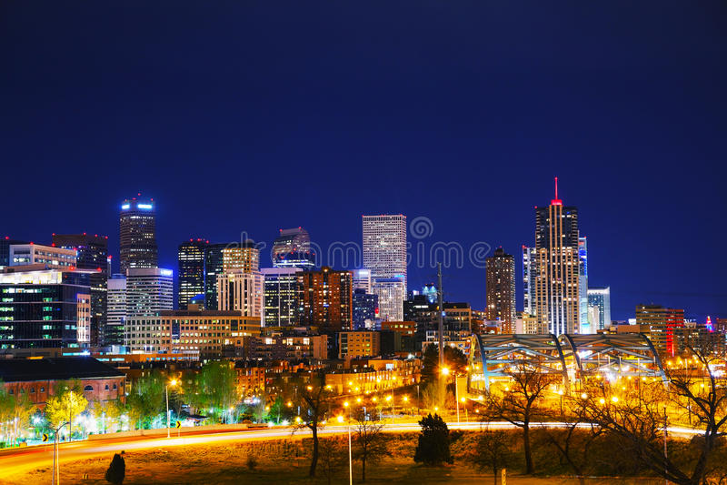 Denver van de binnenstad, Colorado royalty-vrije stock afbeeldingen