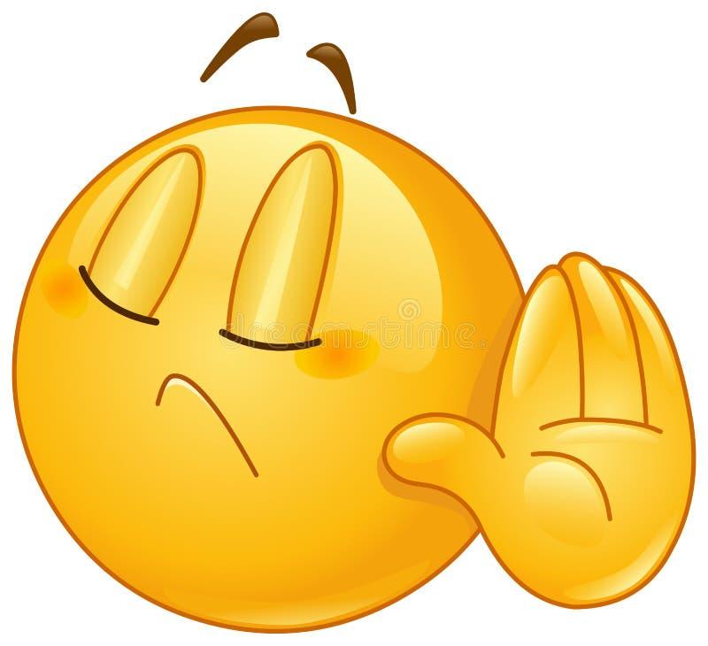 Deny emoticon stock vector. Illustration of design, emoji ...