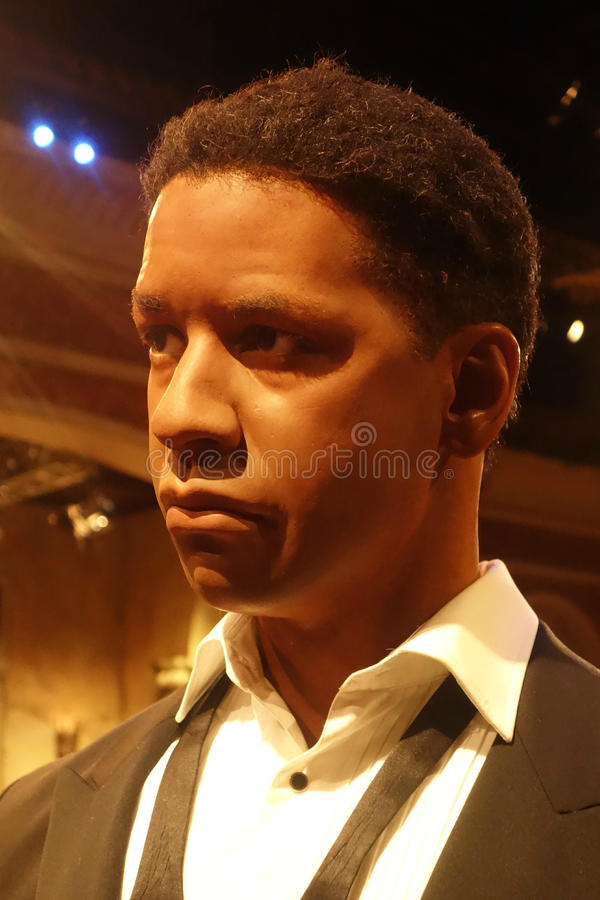 Denzel Washington Wax Figure fotos de archivo