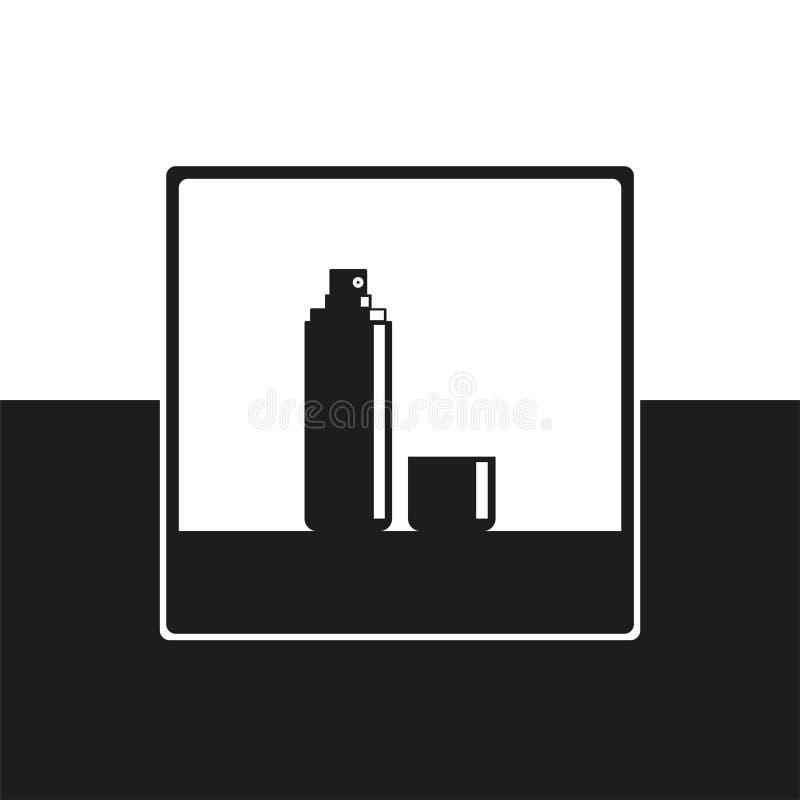 deodorant косметические детали зацепляет икону иллюстрация штока