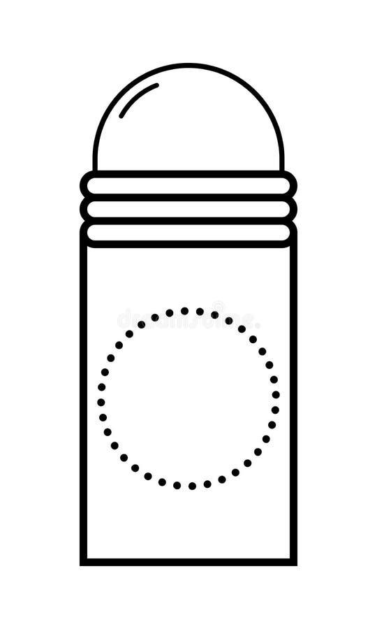 deodorant Личная забота для тела Гигиена Плоский значок, объект изолированный на белой предпосылке иллюстрация штока