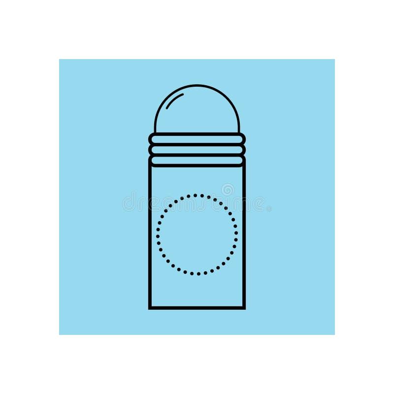 deodorant Личная забота для тела Гигиена Плоский значок, объект изолированный на белой предпосылке иллюстрация вектора
