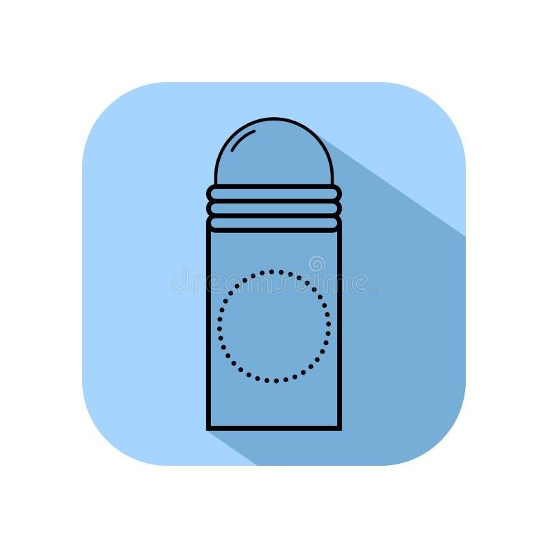 deodorant Личная забота для тела Гигиена Плоский значок, объект изолированный на белой предпосылке бесплатная иллюстрация