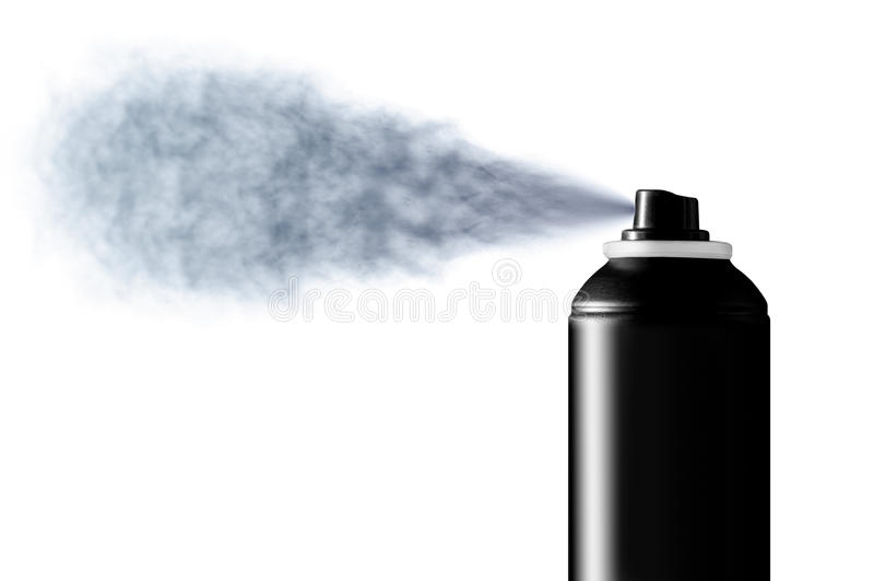 Deodorant spray mist royalty free stock photography