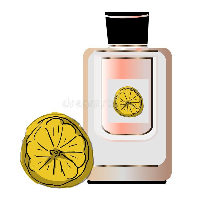 Deodorante asciutto del bastone con il manifesto cosmetico realistico di promo di fragranza fresca Antidiaforetico in tubo di pla illustrazione vettoriale