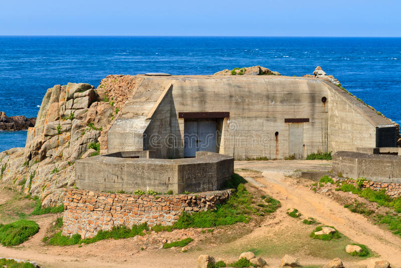 Depósito atlântico alemão da parede, Jersey imagem de stock