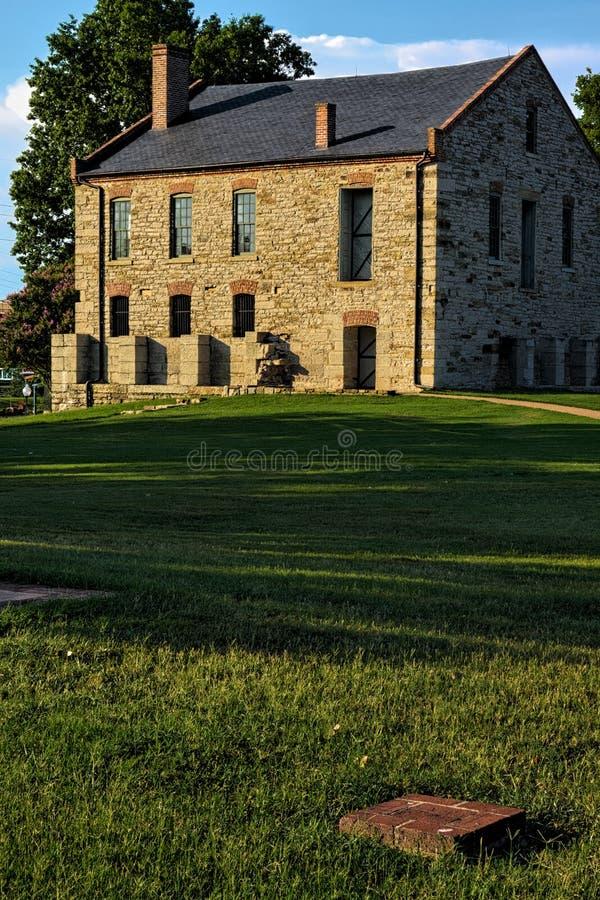 Depósito da fonte no forte Smith National Historic Site foto de stock