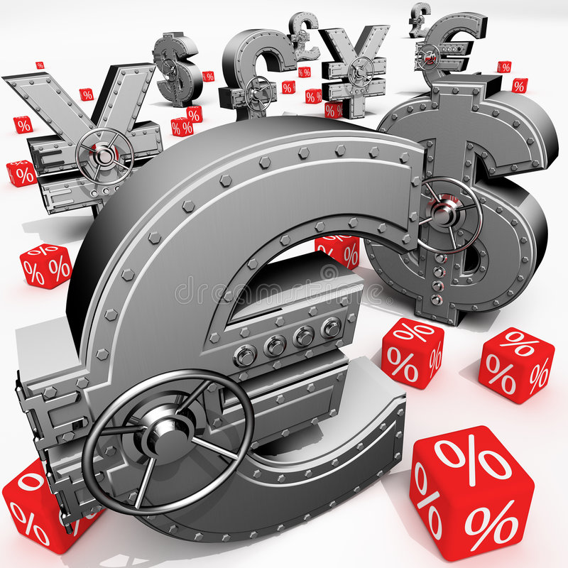 Depósito de actividades bancarias stock de ilustración