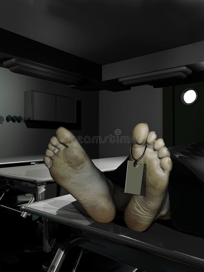 Depósito de cadáveres stock de ilustración