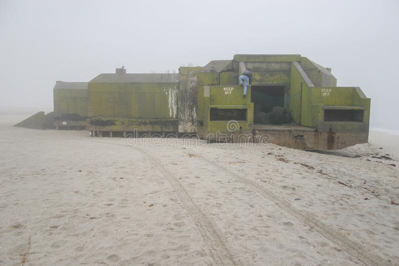Depósito de Cape May na névoa imagens de stock royalty free