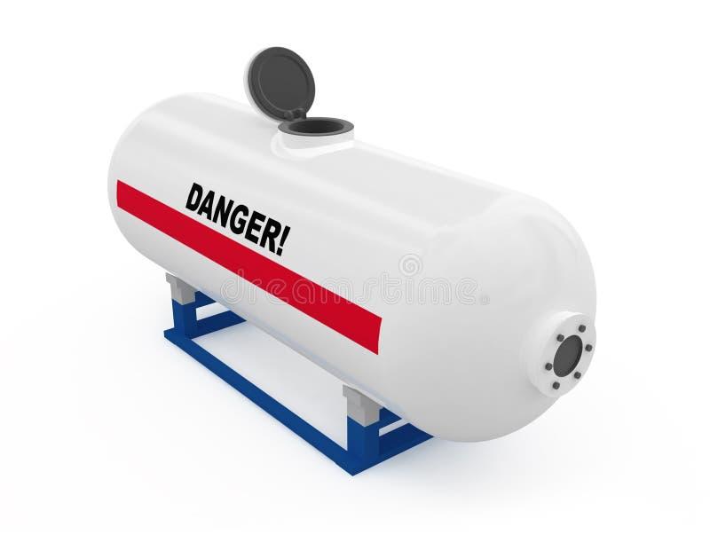 Depósito de gasolina aberto ilustração do vetor
