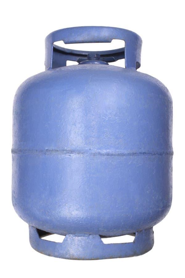 Depósito de gasolina azul del butano fotografía de archivo libre de regalías