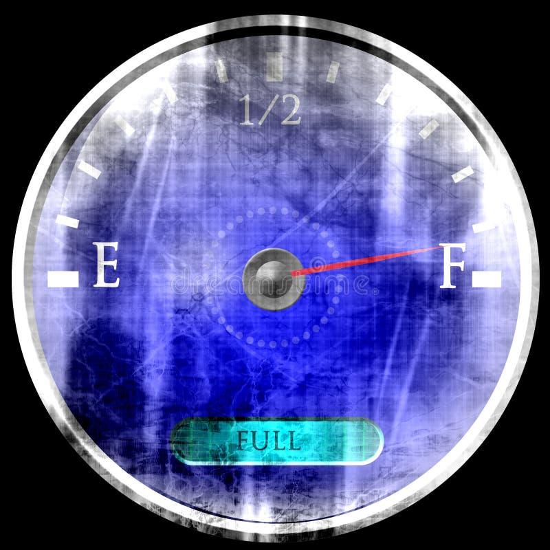 Depósito de gasolina casi lleno ilustración del vector