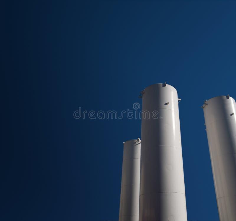 Depósito de gasolina industrial imágenes de archivo libres de regalías