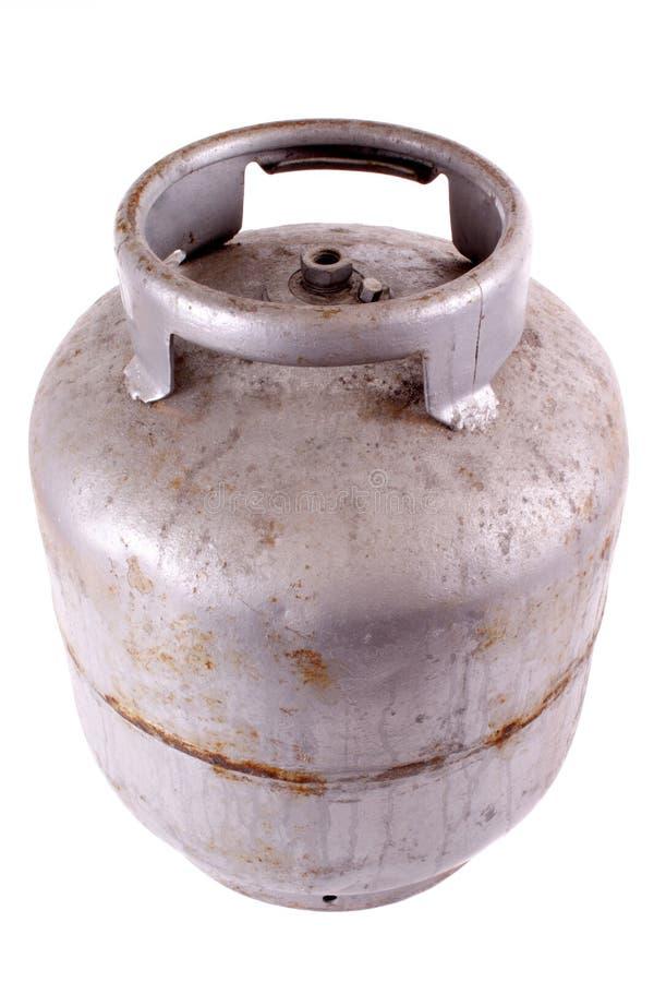 Depósito de gasolina oxidado del butano foto de archivo libre de regalías