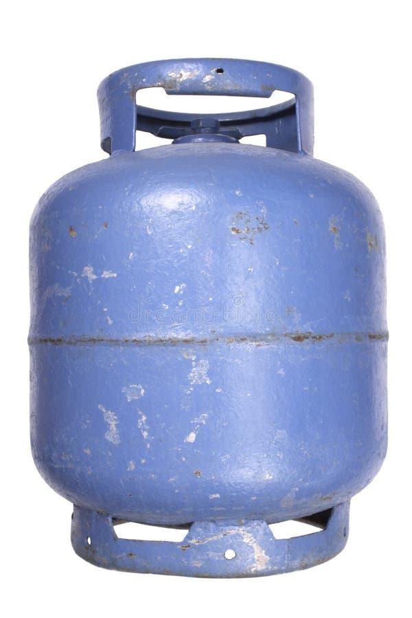 Depósito de gasolina usado del butano fotos de archivo