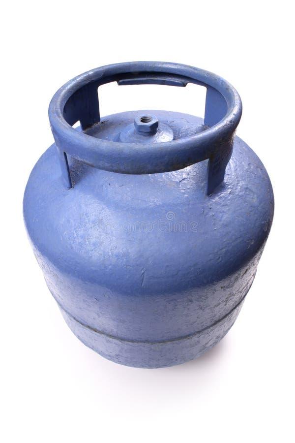 Depósito de gasolina usado del butano imagenes de archivo