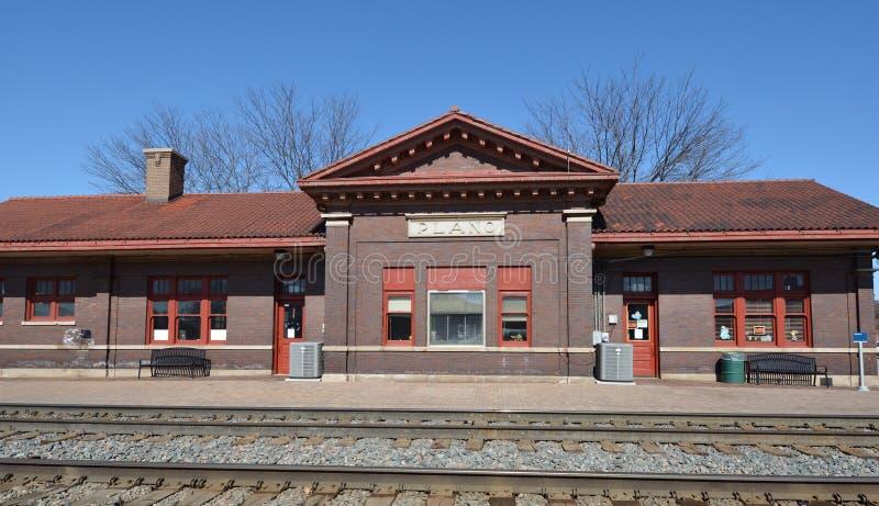 Depósito del ferrocarril de Plano fotos de archivo libres de regalías