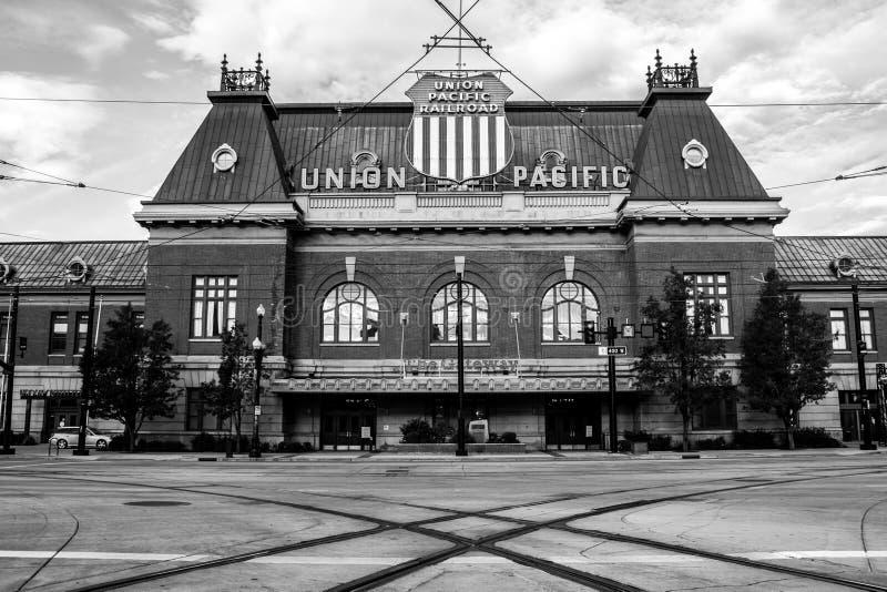 Depósito del Pacífico de la unión de Salt Lake City fotos de archivo