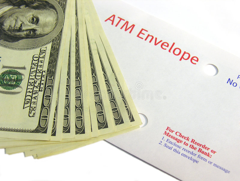 Depósito do ATM fotos de stock royalty free