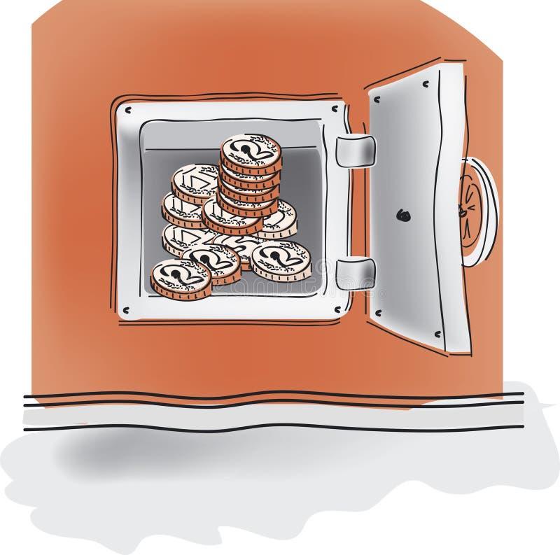 Depósito seguro ilustração stock