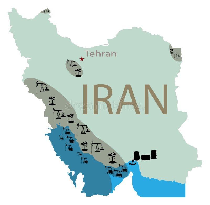 Depósitos del aceite en Irán imagenes de archivo