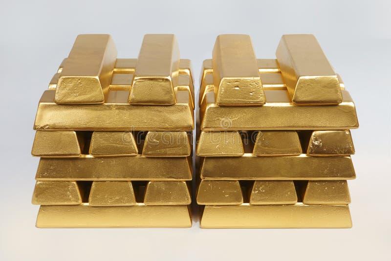 Dep?sito do ouro ilegal em uma quantidade de 500 quilos em tijolos padr?o imagens de stock royalty free