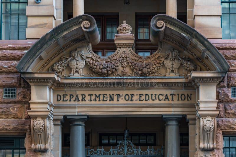 Departament Edukacji na Bridżowej ulicie, Sydney CBD zdjęcie royalty free