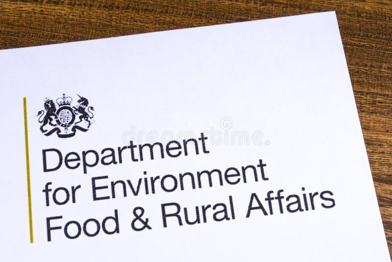 Departamento BRITÁNICO para la comida del ambiente y los asuntos rurales imagen de archivo