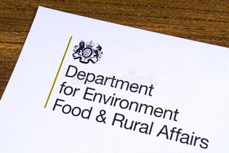 Departamento BRITÁNICO para la comida del ambiente y los asuntos rurales fotografía de archivo